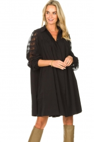 Copenhagen Muse |  Dress with lace Madelyn | black  | Picture 4