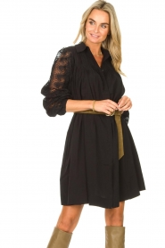 Copenhagen Muse |  Dress with lace Madelyn | black  | Picture 5
