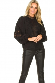 Copenhagen Muse    Blouse with lace Madelyn   black    Picture 4