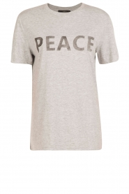 Set | T-shirt Peace | grijs