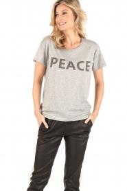 Set | T-shirt Peace | grijs  | Afbeelding 6