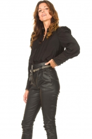 Copenhagen Muse    Blouse with puff sleeves Ultra   black    Picture 4