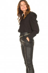 Copenhagen Muse    Blouse with puff sleeves Ultra   black    Picture 5