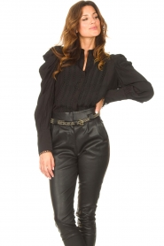 Copenhagen Muse    Blouse with puff sleeves Ultra   black    Picture 2