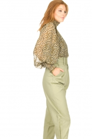Copenhagen Muse |  Blouse with ruffles Frill | green  | Picture 6