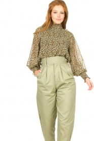 Copenhagen Muse |  Blouse with ruffles Frill | green  | Picture 5