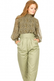 Copenhagen Muse |  Blouse with ruffles Frill | green  | Picture 4