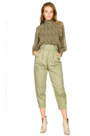 Copenhagen Muse |  Blouse with ruffles Frill | green  | Picture 3
