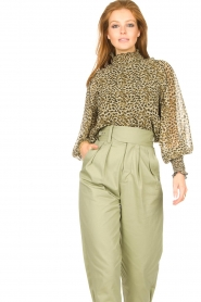 Copenhagen Muse |  Blouse with ruffles Frill | green  | Picture 2