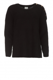 Dante 6 |  Sweater with button details Diaz | black  | Picture 1