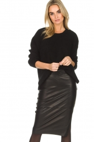 Dante 6 |  Sweater with button details Diaz | black  | Picture 2