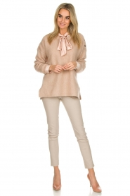 Dante 6 |  Sweater with button details Diaz | Beige   | Picture 3