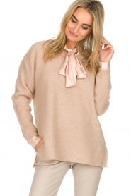Dante 6 |  Sweater with button details Diaz | Beige   | Picture 2