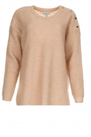 Dante 6 |  Sweater with button details Diaz | Beige   | Picture 1