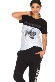 Zoe Karssen |  T-shirt Japanther | black/white  | Picture 5