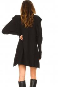 Silvian Heach |  Sweater dress wtih ruffles Rigel | black  | Picture 6