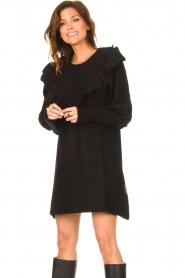 Silvian Heach |  Sweater dress wtih ruffles Rigel | black  | Picture 5