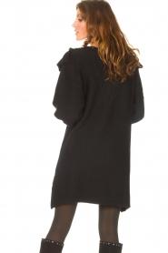 Silvian Heach    Sweater dress wtih ruffles Rigel   black    Picture 7