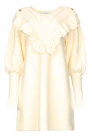 Silvian Heach |  Sweater dress wtih ruffles Rigel | natural  | Picture 1