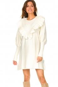 Silvian Heach |  Sweater dress wtih ruffles Rigel | natural  | Picture 2