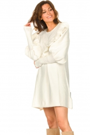 Silvian Heach |  Sweater dress wtih ruffles Rigel | natural  | Picture 6