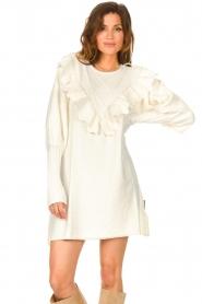 Silvian Heach |  Sweater dress wtih ruffles Rigel | natural  | Picture 5