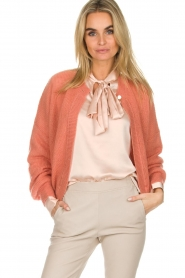 Dante 6 |  Cardigan with button Fade | old pink   | Picture 2