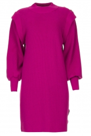 Silvian Heach |  Sweater dress with balloon sleeves Kettering | purple  | Picture 1