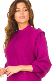 Silvian Heach |  Sweater dress with balloon sleeves Kettering | purple  | Picture 7