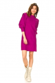 Silvian Heach |  Sweater dress with balloon sleeves Kettering | purple  | Picture 3