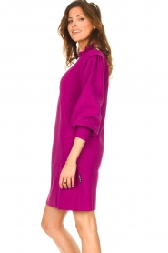 Silvian Heach |  Sweater dress with balloon sleeves Kettering | purple  | Picture 5
