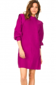 Silvian Heach |  Sweater dress with balloon sleeves Kettering | purple  | Picture 2