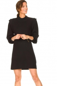 Silvian Heach |  Sweater dress with balloon sleeves Kettering | black  | Picture 4