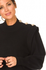 Silvian Heach |  Sweater dress with balloon sleeves Kettering | black  | Picture 8