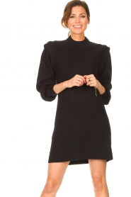 Silvian Heach |  Sweater dress with balloon sleeves Kettering | black  | Picture 2