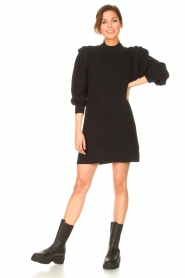 Silvian Heach |  Sweater dress with balloon sleeves Kettering | black  | Picture 3