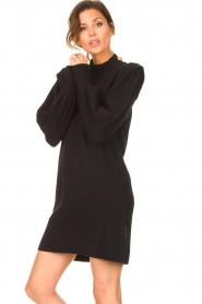 Silvian Heach |  Sweater dress with balloon sleeves Kettering | black  | Picture 5