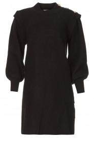 Silvian Heach |  Sweater dress with balloon sleeves Kettering | black  | Picture 1