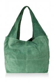 Becksöndergaard | Leren shopper Flatbush | groen  | Afbeelding 1