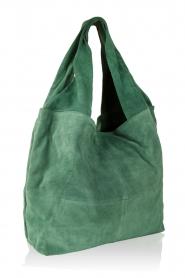 Becksöndergaard | Leren shopper Flatbush | groen  | Afbeelding 3