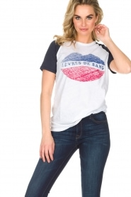 Zoe Karssen | T-shirt Lévres de Sang | wit  | Afbeelding 2