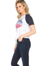 Zoe Karssen | T-shirt Lévres de Sang | wit  | Afbeelding 3