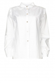 Silvian Heach |  Cotton blouse with shoulder pads Register | white  | Picture 1