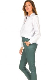 Silvian Heach |  Cotton blouse with shoulder pads Register | white  | Picture 5