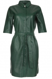 Dante 6 | Leren jurk Emmit | groen  | Afbeelding 1