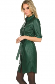 Dante 6 |  Leather dress Emmit | green  | Picture 3
