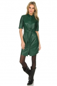 Dante 6 |  Leather dress Emmit | green  | Picture 2