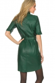 Dante 6 |  Leather dress Emmit | green  | Picture 4