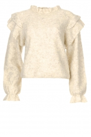 Silvian Heach    Knitted sweater with ruffles Marser   beige    Picture 1