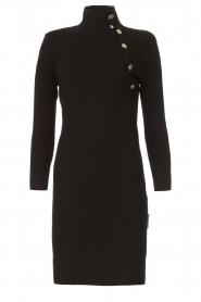 Silvian Heach |  Midi dress with button details Pueblo | black  | Picture 1